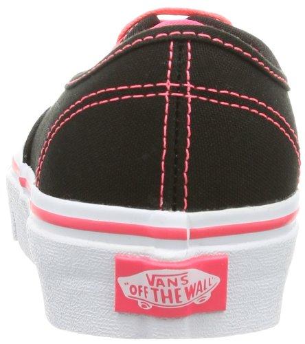 Vans U Authentic - Baskets Mode Mixte Adulte Noir (Pop/Black/Neon Red)