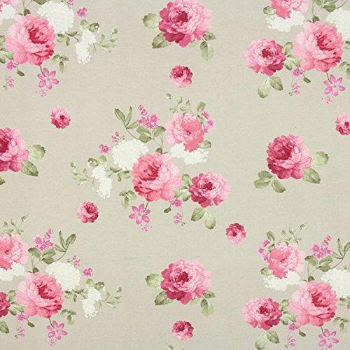 Fabulous Fabrics Canvas Rosella 2 Natur - Meterware ab 0,5m - zum Nähen von Dekoration, Kissen und Tischdecken - Baumwoll-canvas Stoff