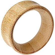 Blue Banana Body Piercing Dilatación Túnel Bamboo Madera Flesh (Marrón) - 8-45mm (Calibre/Grosor)