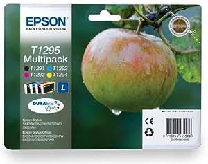 4 Cartouche d'encre pour Imprimante Epson Stylus SX535WD - Cyan / Jaune / Magenta / Noir- Avec Puce