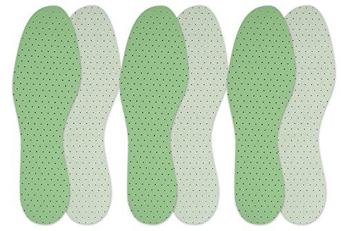 Berckland - 3 Paar Naturlatex Einlegesohlen – 3er Sparpack Einlegesohlen -Made in Germany- Wintereinlegesohle- atmungsaktiv und dämpfend Gr. 36-46, 3 Paare, 45 (3 Paar)