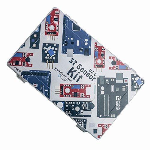 51 7i 0RRiL - ELEGOO Actualizado 37-en-1 Kit de Módulos de Sensores con Tutorial para Arduino UNO R3 Mega 2560 Nano Arduino Sensores Kit Raspberry Sensores