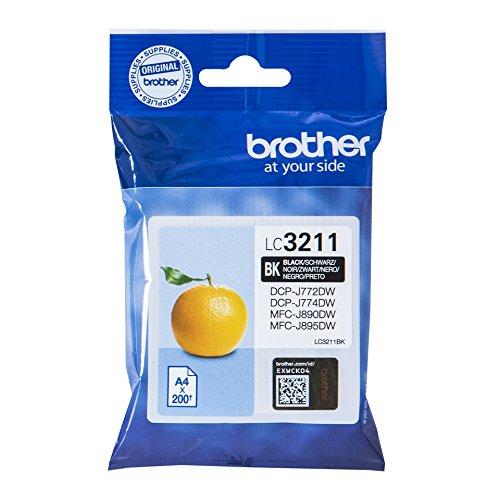 Preisvergleich Produktbild Brother LC-3211BK Tintenpatrone (für Brother DCP-J772DW, DCP-J774DW, MFC-J890DW, MFC-J895DW) schwarz