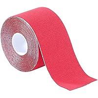 newgen medicals Kompressions-Tape: Kinesiologie-Tape aus Baumwollgewebe, 5 cm x 5 m, rot (Kinesiologie-Klebeband) preisvergleich bei billige-tabletten.eu