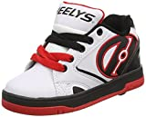 Heelys Propel 2.0 770599, Jungen Lauflernschuhe Sneakers, Mehrfarbig (White/Black/Red), 40.5 EU (7 UK)
