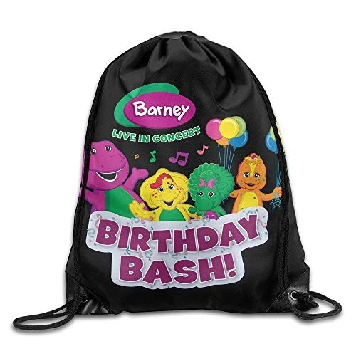 Barney Flats (HLKPE Barney and Friends 2 Drawstring Tote Backpack Bag)