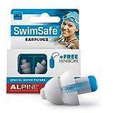 Alpine SwimSafe Ohrstöpsel - wasserdichte Ohrstöpsel zum Schwimmen - Halten Wasser fern und verhindern Infektionen - Bequemes hypoallergenes Material - Wiederverwendbare Ohrstöpsel