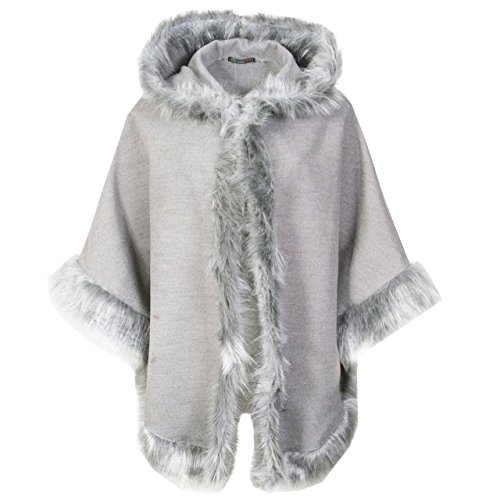 Generic -  Giacca  - Cappotto - Donna Silver Grey