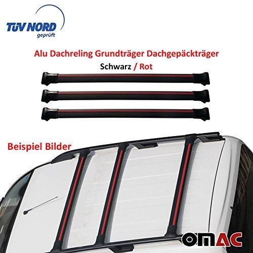 OMAC GmbH Dachträger Relingträger für Viano Vito W638 W639 W447 ab 2003 Aluminium Schwarz mit TÜV ABE