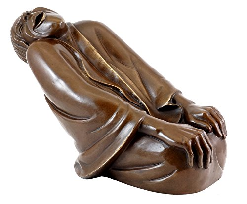 1937-kunst (Kunst & Ambiente - Bronzefigur - Lachende Alte (1937) - Ernst Barlach Skulptur - Limitierte Edition in Bronze)