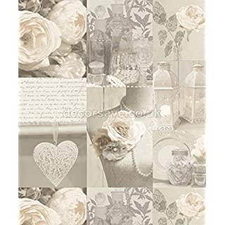 Arthouse Wallcoverings Charlotte Wallpaper Neutral 665203 Full Roll
