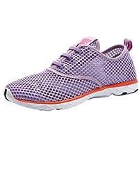 SHOWHOW Damen Luftig Mesh Sommer Schuhe Freizeitschuhe Sneakers Pink 37 EU xEqWwbC