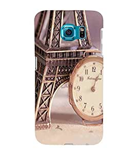 Watch, Grey, Tower, Amazing Pattern, Printed Designer Back Case Cover for Samsung Galaxy S6 Edge :: Samsung Galaxy S6 Edge G925 :: Samsung Galaxy S6 Edge G925I G9250 G925A G925F G925Fq G925K G925L G925S G925T