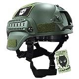 MICH 2000 Combat de casque de protecteur avec côté rail & NVG Montage OD vert pour Airsoft Tactique Paintball Militaire Chasse