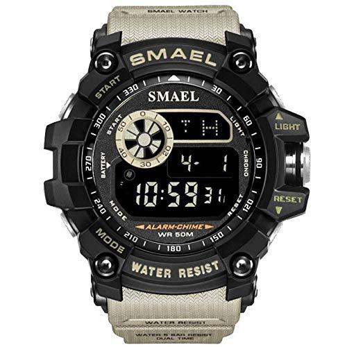 Adisaer Digitale Armbanduhr Herren Wasserdicht Digitale Uhr Herrenuhr Khaki Dunkel Grün Outdoor Sportuhr Armbanduhr Automatikuhr