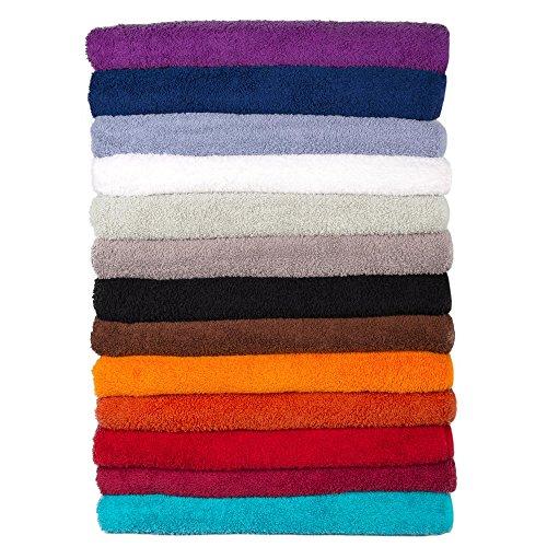 Bari Saunatuch / Badetuch | viele Farben, 2 Größen | 100% Baumwolle Frottee Handtuch, ca. 500g/m², 80 x 200 cm | CelinaTex 0001369 | schwarz