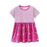 bobo4818 Kleinkind Baby Mädchen Kurzarm Kleid Kind Sommer Kleidung Stickerei Prinzessin Party Kleider