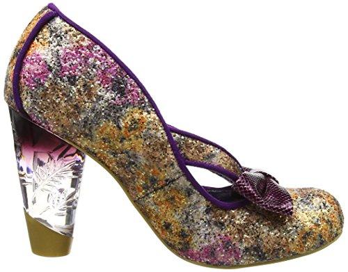 Irregular Choice Damen Hello Ha Pumps Purple (Purple/Gold)