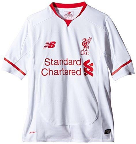 New Balance Equilibrio Liverpool FC Junior impresión Maillot de Manga Corta–Blanco/Rojo, Grande