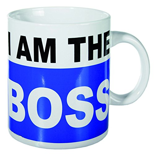 """Gran regalo para el amigo invisible para los hombres y mujeres bajo £10 - """"yo soy el jefe"""" XL café taza de té"""