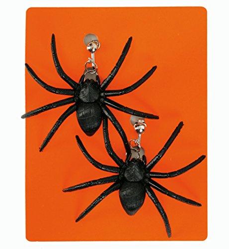 narrenwelt Ohrringe Halloween Spinne schwarz