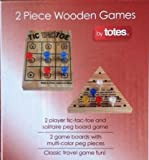 Totes 2 Piece Wooden Game - Tic Tac-Toe ...
