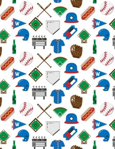 Baseball Game Notebook - 5x5 Quad Ruled: 8.5 x 11 - 200 Pages - Graph Paper - School Student Teacher Office por Rengaw Creations