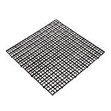 Dabixx Juego de separador de acuario para acuario, con ventosa, plástico, negro, 30 x 30 cm