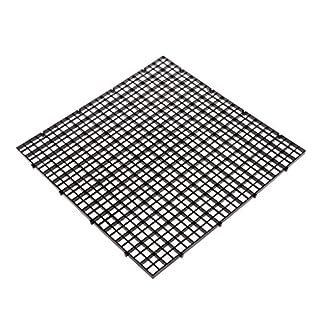 Dabixx Aquarium Fish Tank Isolation Divider Filter Patition Board Net Divider Holder Black 30x30cm 1 Set 51 7pE1gHBL