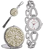 Monsoon Women's Quartz Watch with Mother of Pearl Dial Analogue Display and Silver Bracelet MO5000