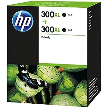 HP 300XL 2-pack High Yield Black Original Ink Cartridges (D8J43AE)
