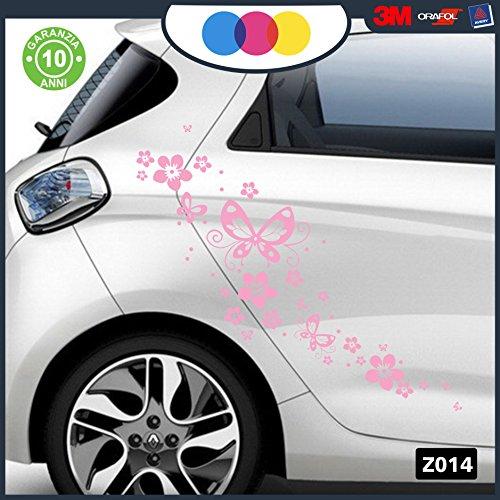 adesivi-per-auto-fiori-e-farfalle-auto-macchina-novita-auto-moto-camper-stickers-decal-rosa