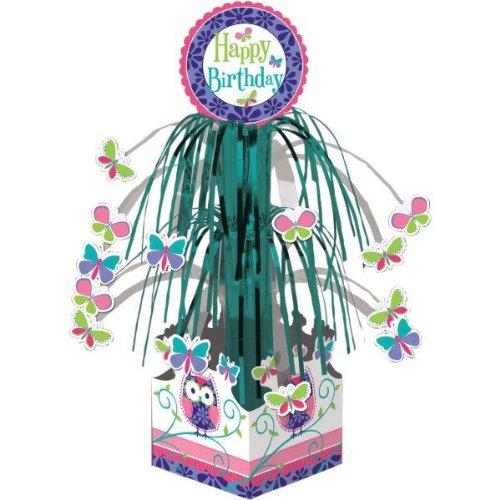 Tisch-Deko mit Lametta * TRENDY EULEN * für Kindergeburtstag und Motto-Party // Kinder Geburtstag Owl Eule Motto Party Tisch Deko (Party Owl Dekorationen)