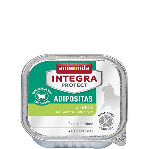 animonda Integra Protect Adipositas mit Pute | Diät Katzenfutter | Nassfutter bei Übergewicht (16 x 100 g)