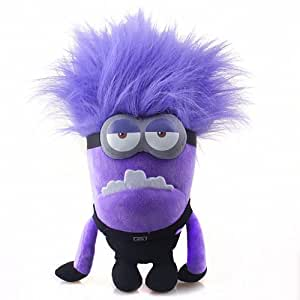 Fireox 10.5 Inch Despicable Me 2 Evil TWO EYED Purple Minion Plush Toy Bad Minion