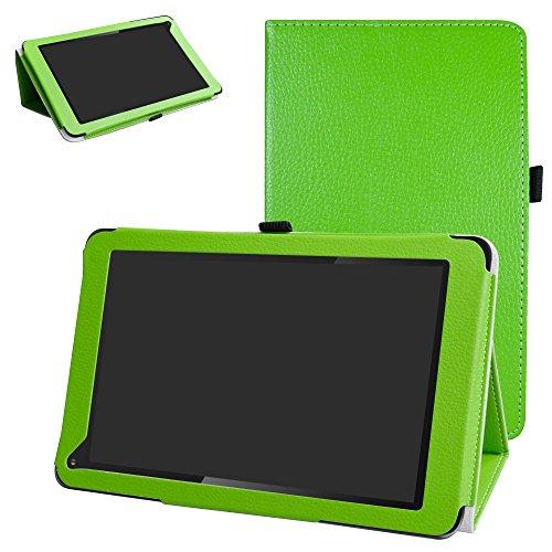 Mama Mouth PU Leder Folio 2-Folding Stand Cover für Dragon Touch V1025,4cm GPS Android Tablet Grün Grün (Dragon Touch Grün Tablet)
