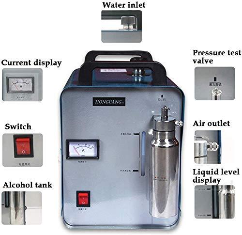 TYZXR Máquina de Pulido de Llama de hidrógeno y oxígeno Generador 75L...