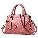 FDYHHRF Frauen Handtasche, Europäische Und Amerikanische Persönlichkeit Mutter Tasche, Kindertasche, Weiche Leder Umhängetasche,Pink