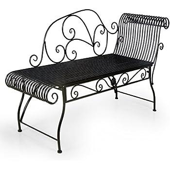 hlc metall klassische bank gartenbank liegestuhl aus eisen 110 44 85 cm k che haushalt. Black Bedroom Furniture Sets. Home Design Ideas