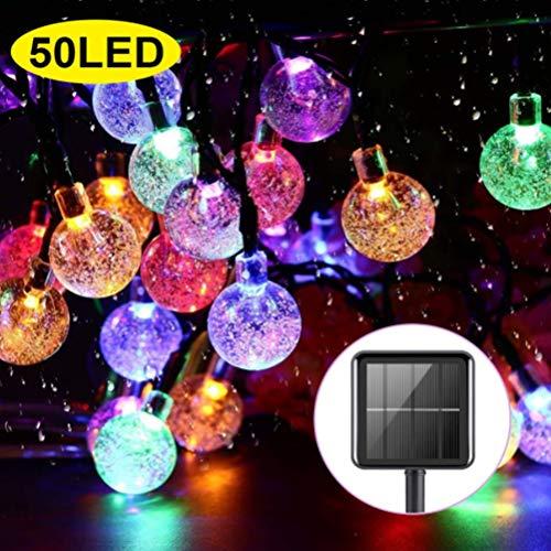 Sarplle Solar Lichterkette IP65 Wasserdicht Gartenleuchte 50 LEDs 8 Modi Solarleuchte Stimmungslichter Nachtlichter für Hinterhöfe, Gärten, Rasen, Weihnachten