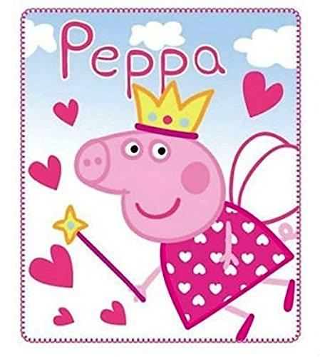 Peppa Pig - Kuschel-Decke / Fleece-Decke / Tagesdecke - fürs Auto / Zuhause - 120 x 140 (Kinder Peppa Pig Für Kostüm)