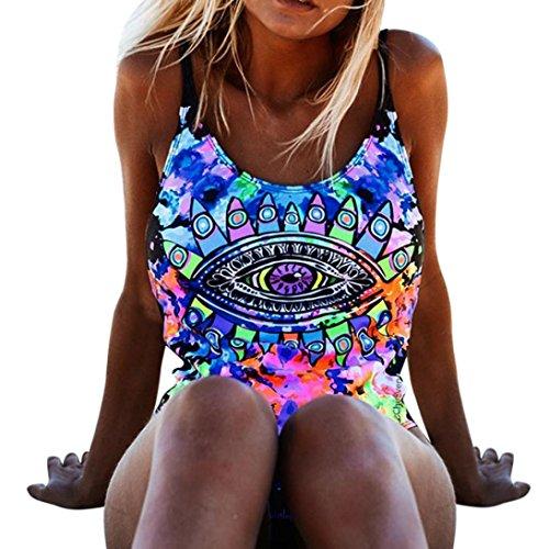 OverDose Damen Einteiler Bikini Push-Up gepolsterte Bademode Badeanzug