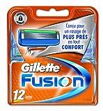 Gillette fusion - Recambios para cuchillas de afeitar (12 unidades)