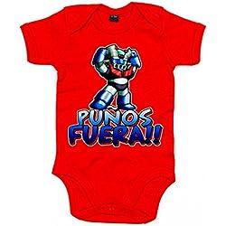 Body bebé Mazinger Z puños fuera bebé - Rojo