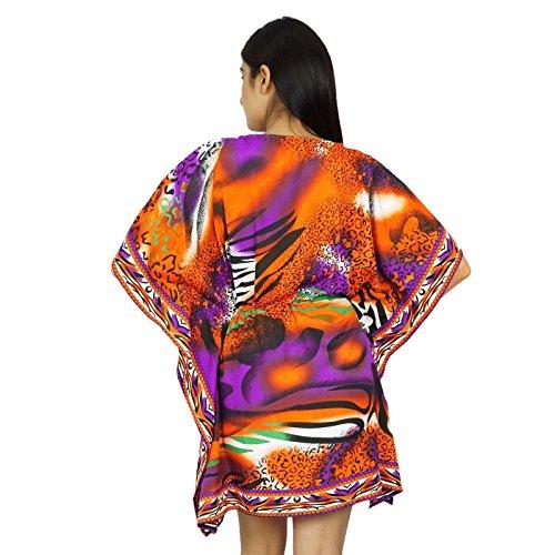 African Polyester Kaftan Boho Hippie-Plus Size Women Shirt Strand-Vertuschung-Frauen Kaftan Mehrfarben-2