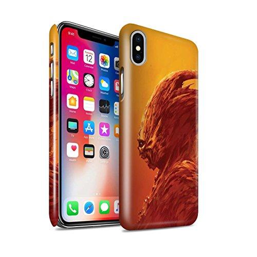 Offiziell Chris Cold Hülle / Glanz Snap-On Case für Apple iPhone X/10 / Ungeheuer/Troll Muster / Wilden Kreaturen Kollektion Raubtier/Jäger