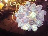 Blaues Licht handgefertigt Vintage Lampenschirm aus Cocoon Lichterkette Thai Terrassen Deko Weihnachtskarte, Motiv Hochzeit
