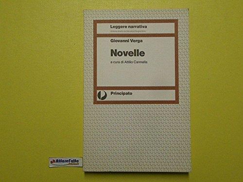 J 1059 LIBRO NOVELLE DI GIOVANNI VERGA A CURA DI ATTILIO CANNELLA 1986