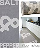 floor factory Küchenteppich Salt&Pepper grau 80x200 cm - günstiger Küchenläufer