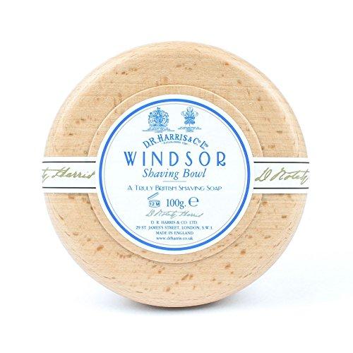 DR Harris Windsor Savon de rasage Bol en bois de hêtre + Savon